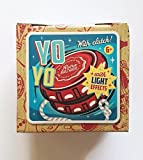 'Retro Bazaar' Yo-Yo with Clutch and LED Light Effects, Lights Up When You Spin, Replacement Cord Included This Yo-Yo Toy is Red with Red Strobe Lights When You Play