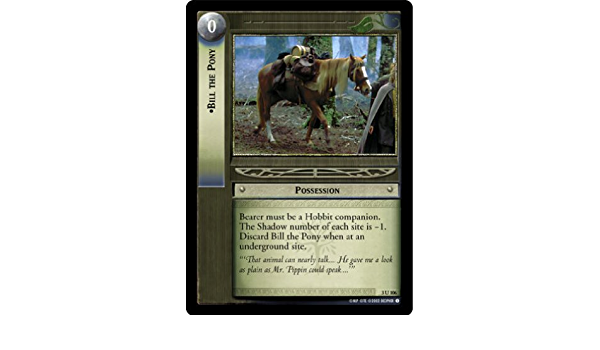 LOTR TCG Bill the Pony 3U106 Realms of the Elf-lords Lord of the Rings NM FOIL