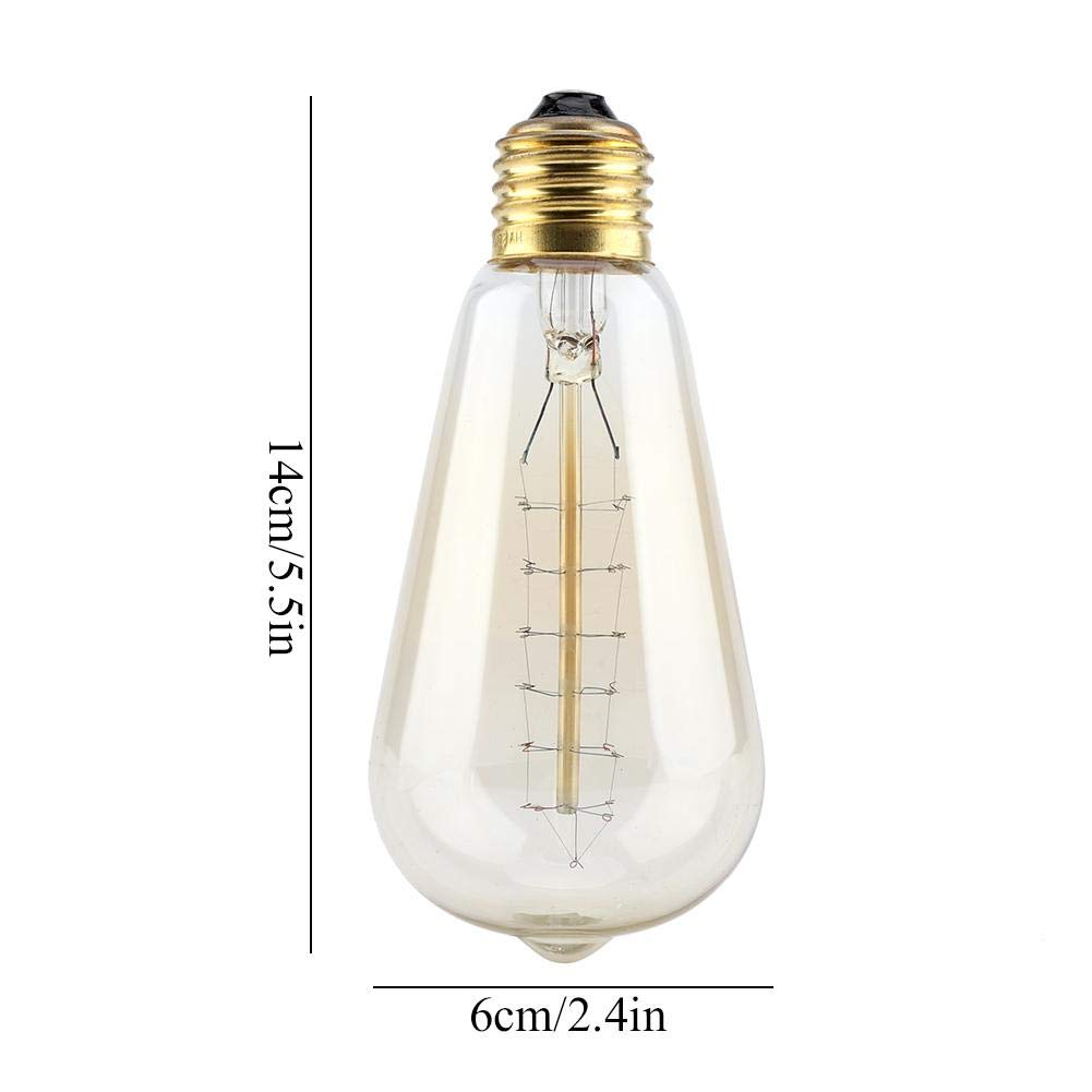 koulate 2pcs Ampoule LED-Ampoule de Filament R/étro en Forme DAmpoule de Corative E27 Vis Ampoule LED