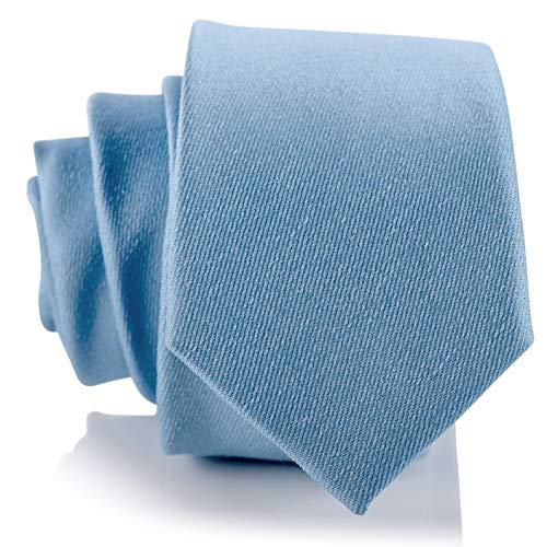 Fly & Dapper Handmade Solid Light Blue Men's Necktie | 2.5