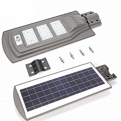 TFCFL 60W Outdoor Commercial LED Solar Street Light IP65 Dusk to Dawn Sensor Lamp Super Bright Solar Light Outdoor Street Patio Garden Path