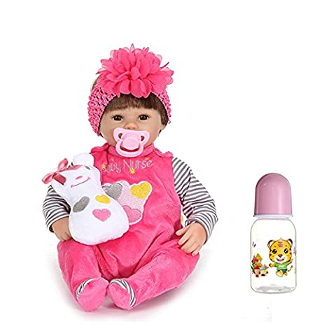 17inch Reborn Baby Girl Doll Silicone Handmade Lifelike Baby Play House Toy (How Do I Get More Storage On M)