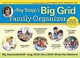 img - for 2019 Amy Knapp's Big Grid Family Organizer Wall Calendar: August 2018-December 2019 book / textbook / text book