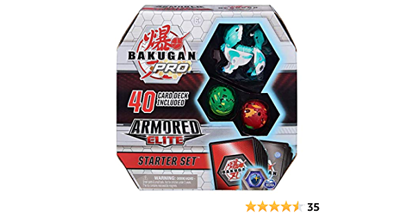Armored Elite Starter Set with Transforming Creatures Bakugan Pro Pyrus Batrix for Ages 6 /& Up