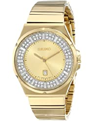Seiko Womens SXDF72 Analog Display Japanese Quartz Gold Watch