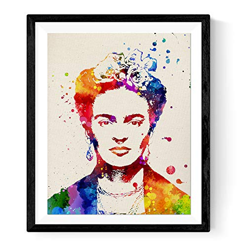 Frida Kahlo Poster with The Definition of Friendship in Spanish. Print of The Mexican Painter Size 11x17