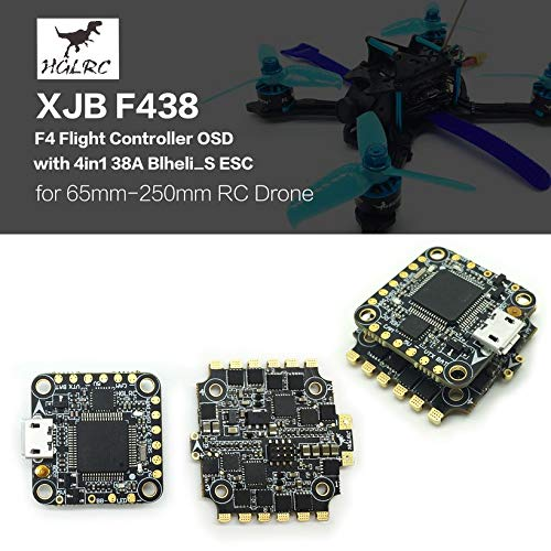 Wikiwand HGLRC XJB F438 F4 Flight Controller OSD 4in1 38A Blheli_S ESC for RC Drone by Wikiwand (Image #2)