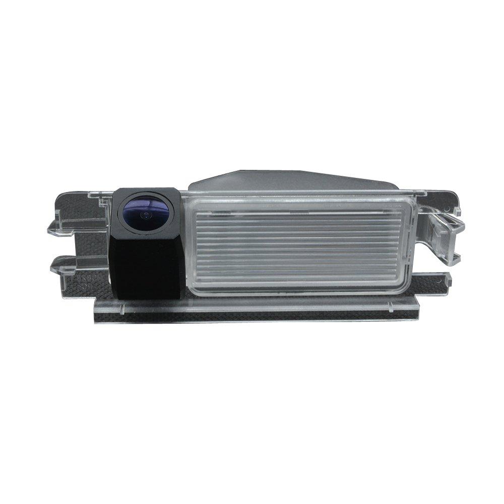Misayaee Cam/éra de Recul Voiture en Couleur Kit Cam/éra vue arri/ère de voiture Imperm/éable IP67 avec large Vision Nocturne pour Renault Model C= 133x 45 mm