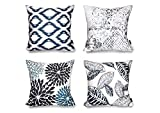 Phantoscope Set of 4 New Living Series Decorative Throw Pillow Cover
