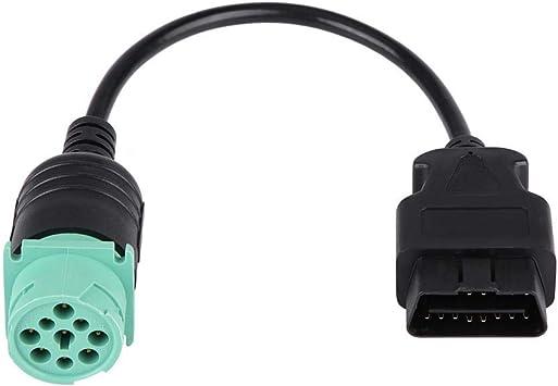 Truck Diagnostic Interface OBD2 Dech 16-Pin Obd2 Femmina 9-Pin Adapter Cable Car Strumento diagnostico J1939-9pin a Obd Obd2 Obdii