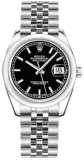 Rolex lady-datejust 31 negro Dial con Jubileo Pulsera de la mujer reloj 178240: Amazon.es: Relojes