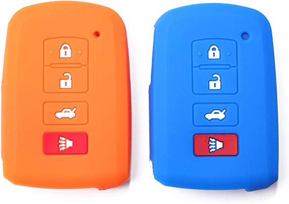 Protective Silicone Rubber Remote Keyless Entry Fob Cover For Toyota Orange