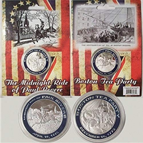 (Americana The Midnight Ride of Paul Revere Tea Party Collectible Medallion Coin)