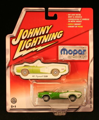 Johnny Lightning Mopar Or No Car 1971 Plymouth Barracuda Convertible Green #42 (Old Classic Chevy Trucks)