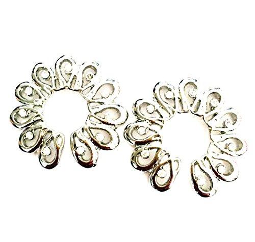 hyidealism pezón anillo bares Clear Gems cuerpo piercing joyas par 14G se vende como par