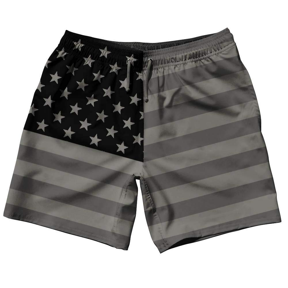 American Flag Blackouts Swim Shorts 7.5