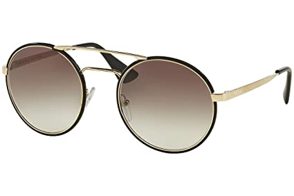 6b742549e19d6 Image Unavailable. Image not available for. Color  Prada PR51SS Cinema Sunglasses  Black Pale Gold ...