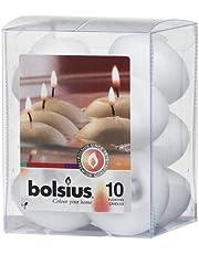 bolsius, Wosk, biały, 8,2 x 8,2 cm, 10 sztuk