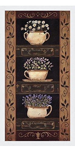 Amazon.com: Framed Teacup Herbs II- 10x20 Inches - Art Print ...