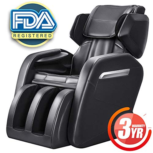 OOTORI Full Body Massage Chair, Zero Gravity Neck, Back, Legs, and Foot Shiatsu Massager with Heat and Foot Rollers (Black)