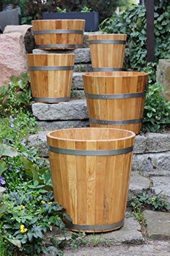 Maceta de jardín de madera para macetero, jardineras y macetas (alerce) - Disponible en varios tamaños: Amazon.es: Jardín
