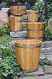 Sottovaso di alta qualità, vaso per fiori, tinozza in robusto legno di conifera (larice) - disponibile in diverse grandezze