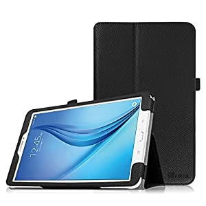 Fintie Folio Case for Samsung Galaxy Tab E 9.6, Slim Fit Premium Vegan Leather Folio Stand Cover for Tab E/Tab E Nook 9.6-Inch Tablet(SM-T560/T561/T565 & SM-T567V Verizon 4G LTE Version), Black