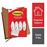 Command Hooks, White, Large, 4 hooks, 8 strips, Ships In Own Container (GP069-4NA)