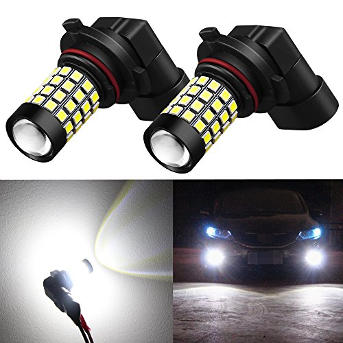 2500 Replacement Fog Light (Alla Lighting 2000 Lumens High Power 2835 51-SMD Super Extremely Bright 6000K White H10 9145 9045 9140 9040 LED Bulbs for Fog Light Lamps Replacement)