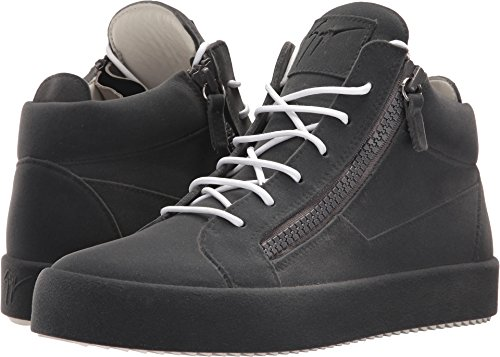 Giuseppe Zanotti Mens May London Mid Top Floccato Smog Sneaker