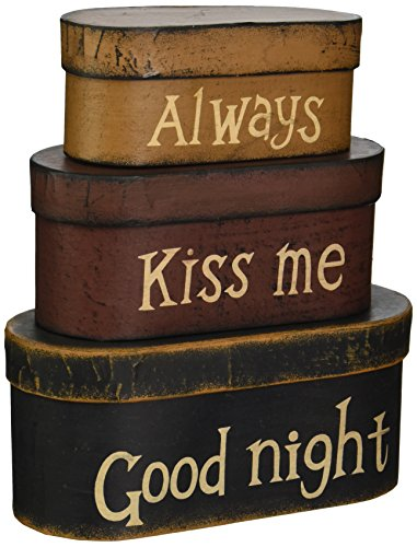 (Your Heart's Delight Always Kiss Me Good Night Nesting Boxes, 8 by 3-1/2 by 3-1/2-Inch)