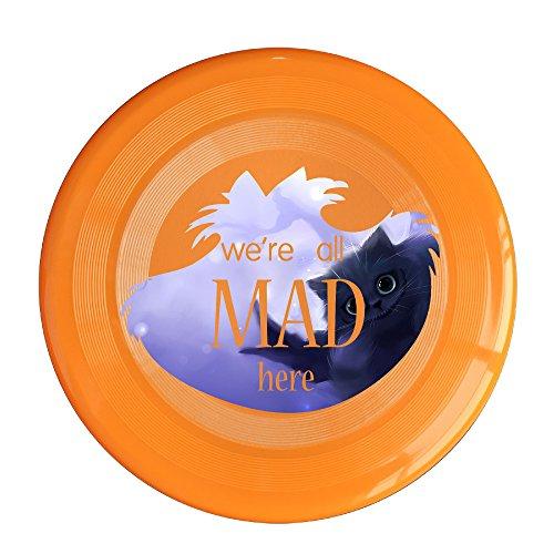 WG Unisex A In Wonderland Cheshire Cat Fantasy Film Outdoor Game Frisbee Ultra Star Orange