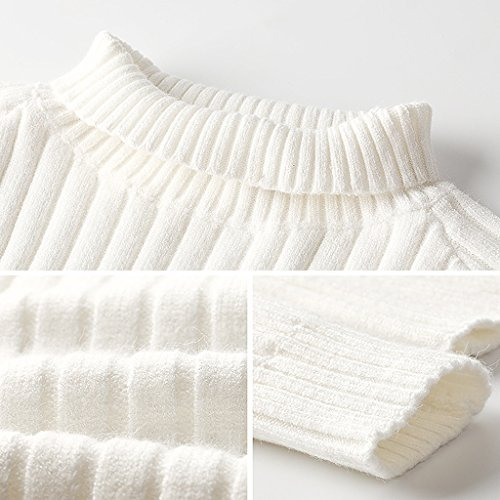 Blanco Tamaño Color Corto Blusa Invierno Suelto De Mujer Suéter Punto S xnwSAHqfS8