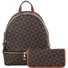 RICHPORTS Backpack Purse with Wallet for Women Fashion 2pcs Handbags Waterproof Daypacks Girls School Shoulder Bag