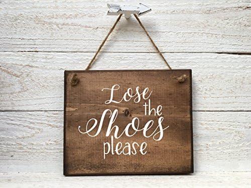 Amazon.com: Letrero para quitar los zapatos, retira el ...