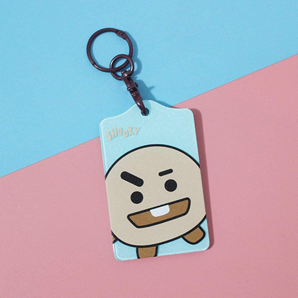 Kpop BTS Badge Hold Cases with Necklace J-hope Jin Cute Cartoon Lanyard Suga V