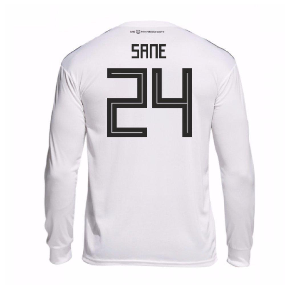 2018-19 Germany Home Long Sleeve Shirt (Sane 24) B0785DT5J4White Medium 38-40\