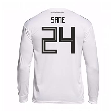 7e375771044 Image Unavailable. Image not available for. Color: 2018-19 Germany Home  Long Sleeve Football Soccer T-Shirt Jersey ...