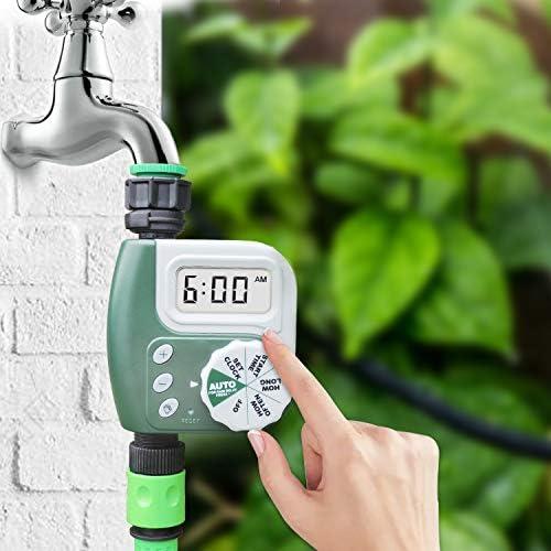 Digital Water Faucet Electronic Programmable Irrigation System,Rain Delay Controller DEWINNER Hose Watering Timer Garden Lawn Sprinkler Timer