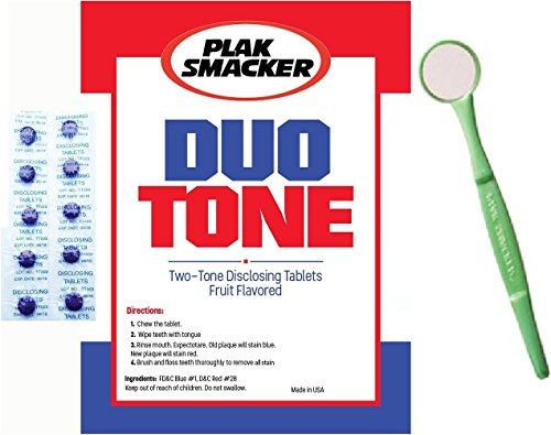 Gum Tablets Disclosing (Duo Tone Plaque Disclosing Tablets With Mouth Mirror)