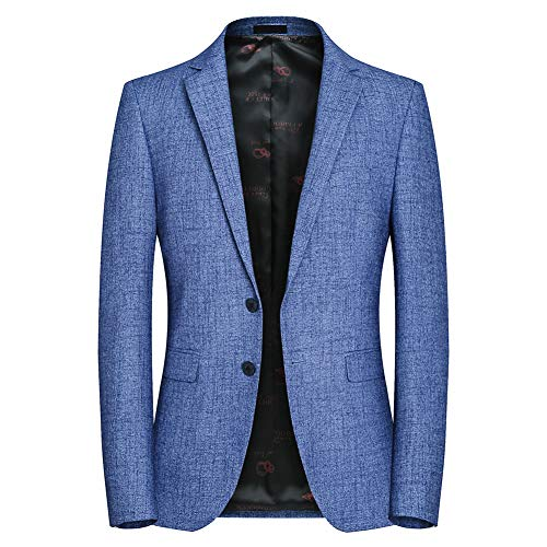 Mens Slim Fit Casual Blazer Jacket Two Buttons Notch Lapel Stylish Daily Dress Suit Sport Coat