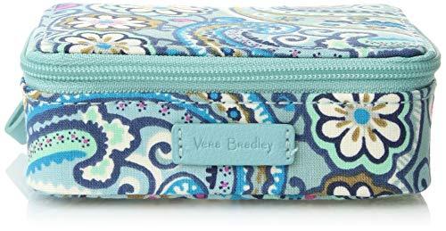 Vera Bradley womens Iconic Travel Pill Case, Signature Cotton, Daisy Dot Paisley, One Size