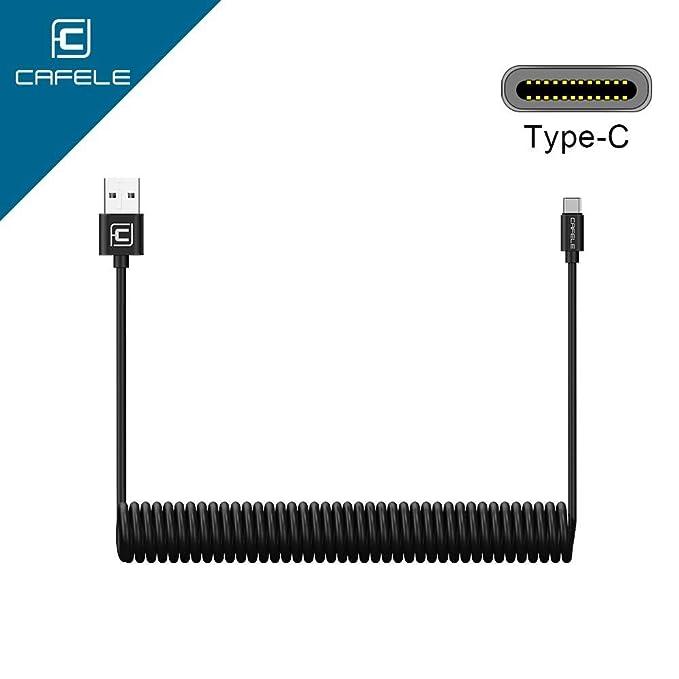 3 opinioni per USB Tipo C Cavo, Cavo Spirale USB C di Ricarica Auto Caricatore 1.6 m cavo dati