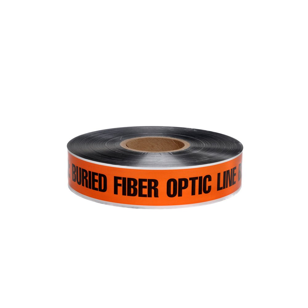 Swanson DETO2100BFO5 2-Inch by 1000-Feet 5-MIL Detectable Tape Caution with Buried Fiber Optic Line Below Orange/Black Print