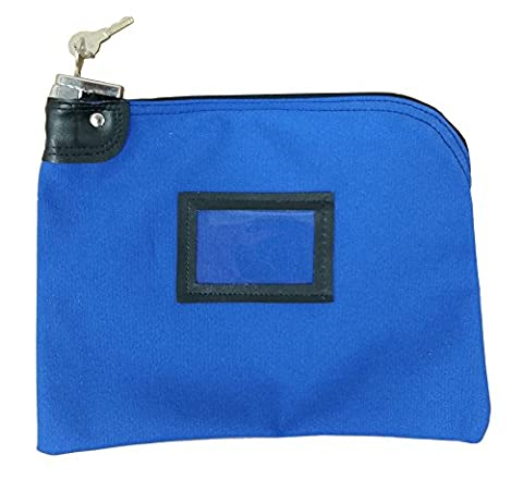 Locking Canvas Money Bag Royal Blue - Locking Security Bags