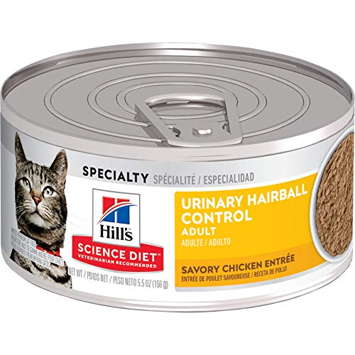 Hill's Science Diet Wet Cat Food, Adult, Urinary & Hairball Control, Savory Chicken Recipe