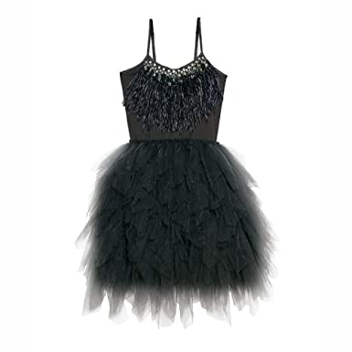 c1dc0e2b6608 Amazon.com  IBTOM CASTLE Kids Swan Princess Dance Costume Feather ...