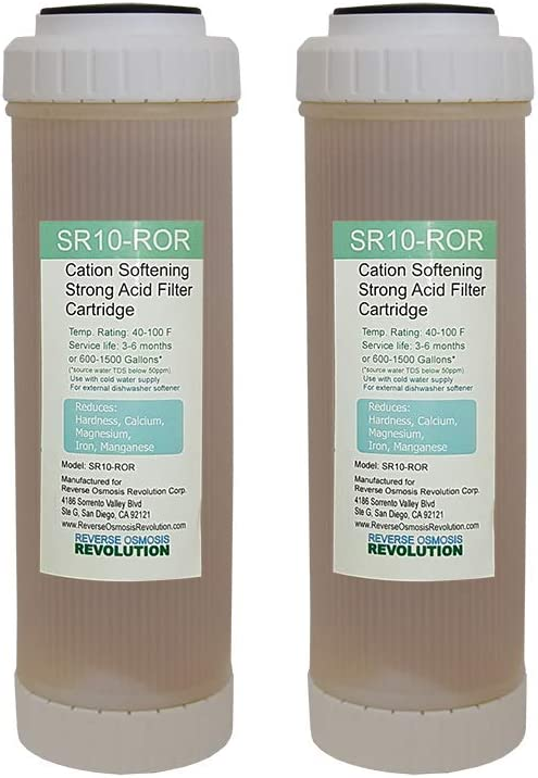 """2 10/""""x2.5/"""" Cation Resin Softener for external dish washing filter replacement"""