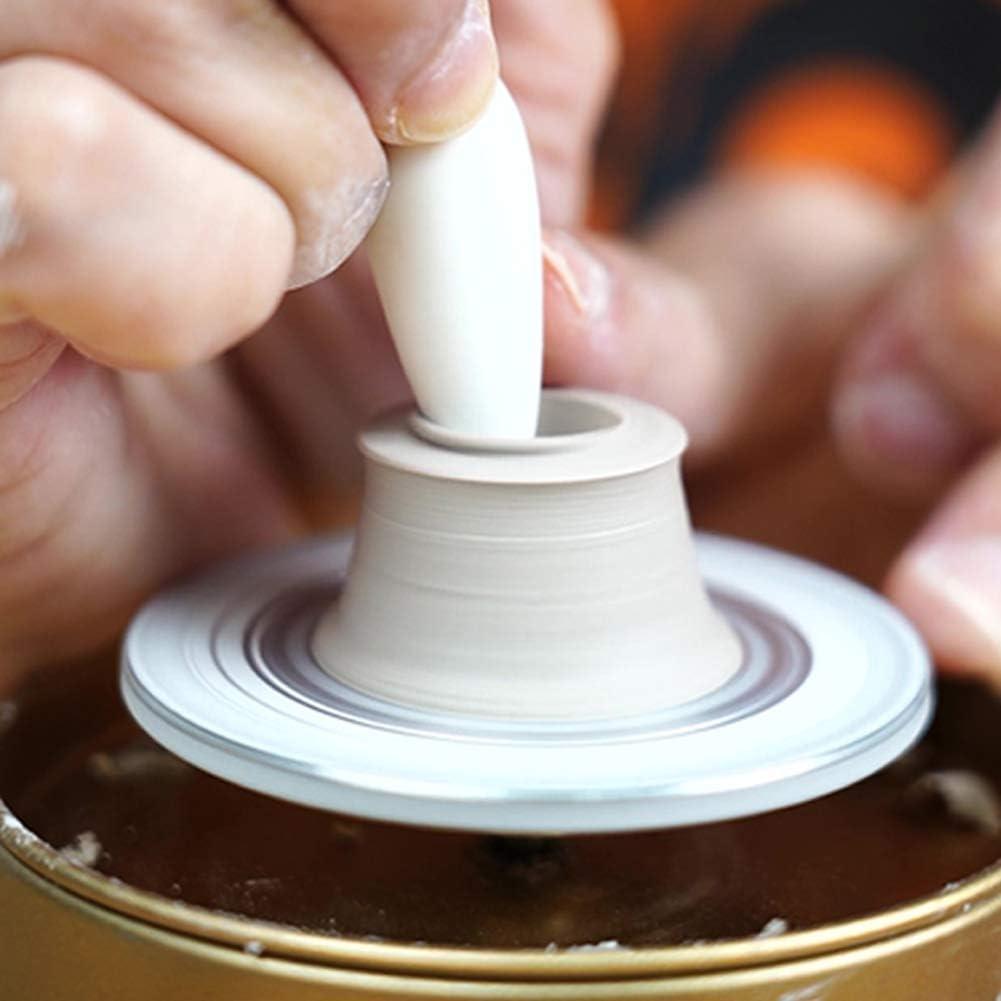 TWSOUL Mini-T/öpferscheibe,0-1500 U//min Elektrische T/öpfer Maschine,Fingerspitzen-DIY-Tonwerkzeug Mit Tablett,F/ür Erwachsene Kinder Keramik Art