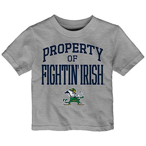 NCAA Notre Dame Fighting Irish Infant Team Property Short Sleeve Tee, 12 Months, Heather Grey
